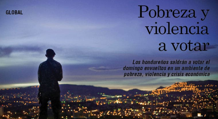 Hondureños votarán rodeados de pobreza y violencia
