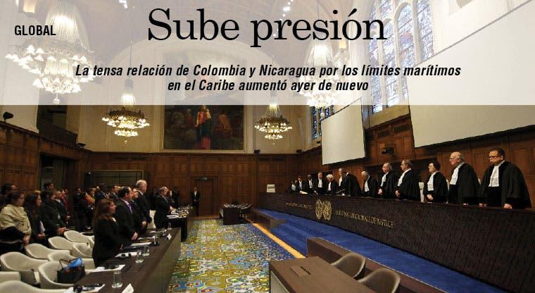 Sube tensión entre Colombia y Nicaragua