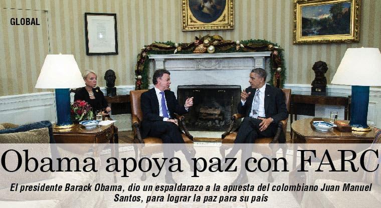 Obama avala apuesta de Santos por paz