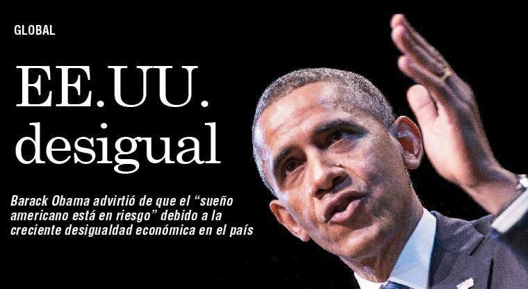 Obama alerta por creciente desigualdad