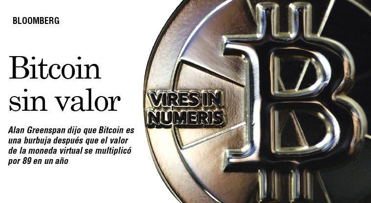 Greenspan: Bitcoin es una burbuja sin valor intrínseco