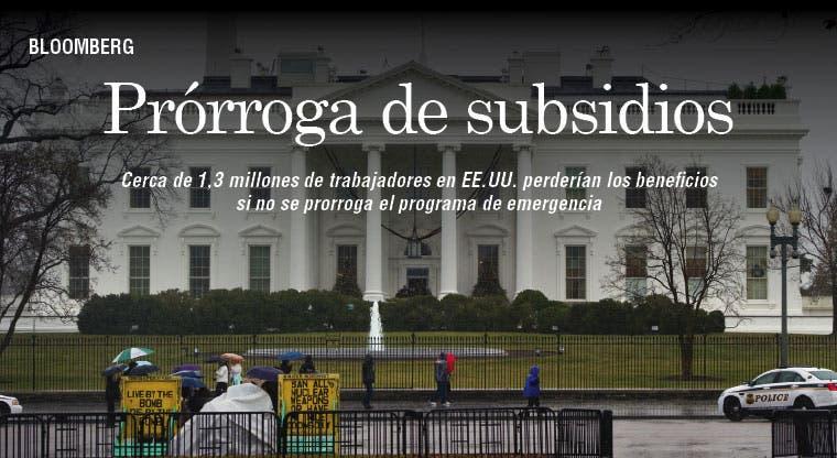 EE.UU. prorrogaría subsidios a desempleo