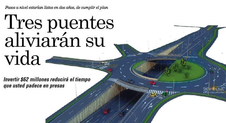 Tres puentes aliviarán su vida