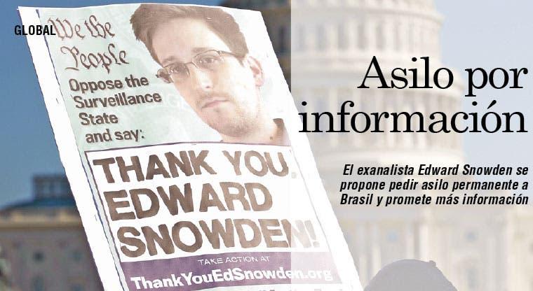 Snowden quiere pedir asilo a Brasil