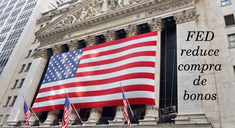 FED reduce compra de bonos