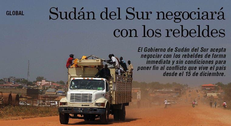 Sudán del Sur negociará con los rebeldes
