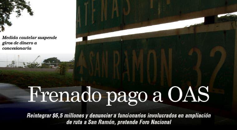 Frenado pago a OAS