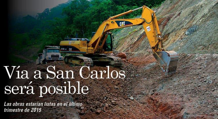 Terminar carretera a San Carlos será posible