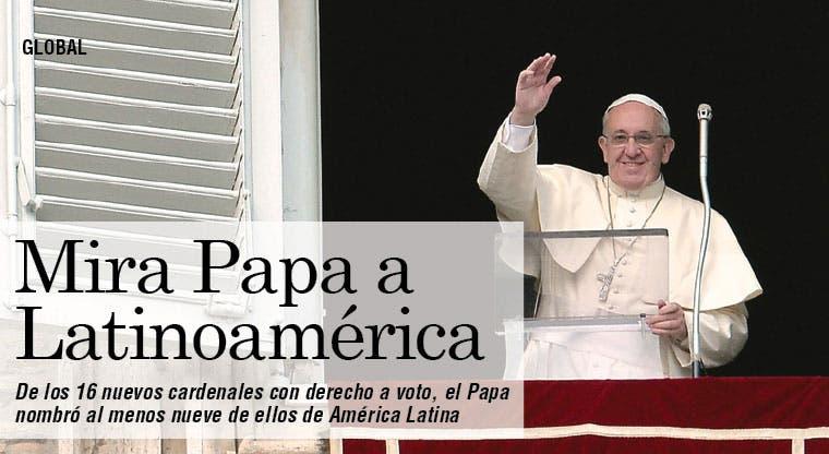 Papa mira a Latinoamérica