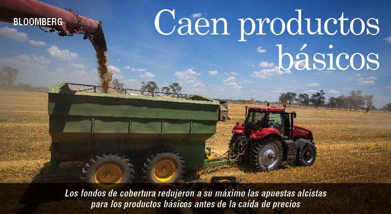 Caen apuestas alcistas para productos básicos