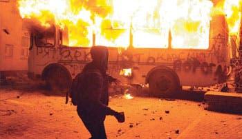 Ucranianos tras la dimisión de su Presidente