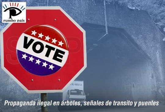 TSE retirará propaganda puesta en carretera Braulio Carrillo