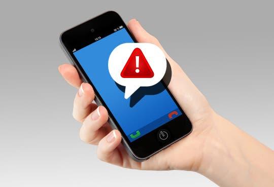 Alerta por mensajes de texto fraudulentos