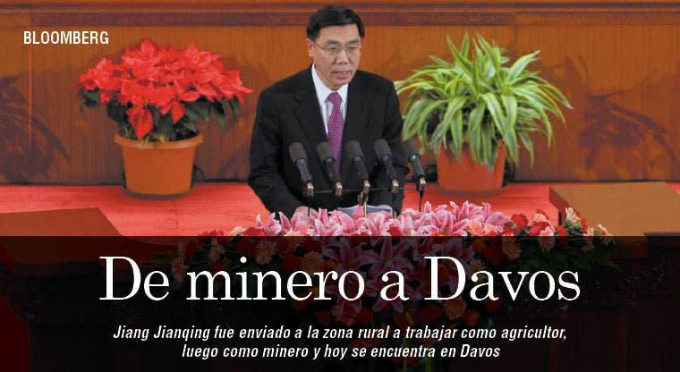 Presidente de banco chino: de minero a Davos