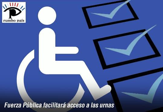 Discapacitados tendrán facilidades para votar