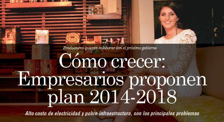 Cómo crecer: Empresarios proponen plan 2014-2018