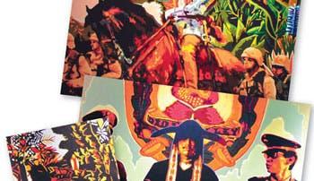 Pinturas y serigrafías plasman historia de Perú