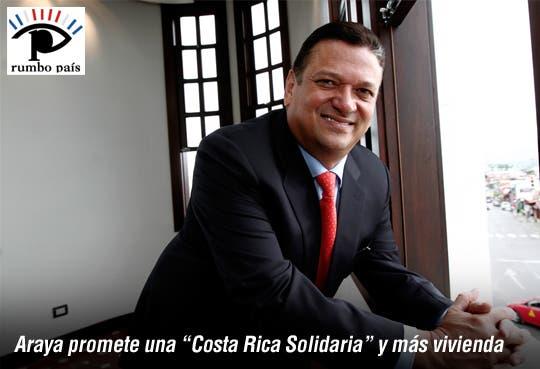 """Johnny ofrece """"Costa Rica Solidaria"""" a pobres"""