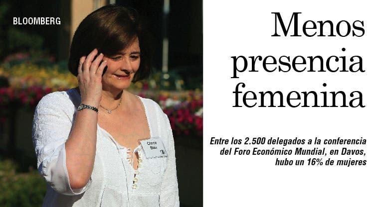 Mujeres siguen siendo pocas en Davos