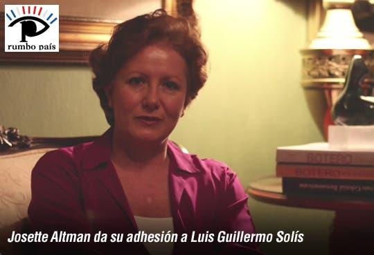 [Video] Otra ex primera dama del PLN da apoyo a Solís