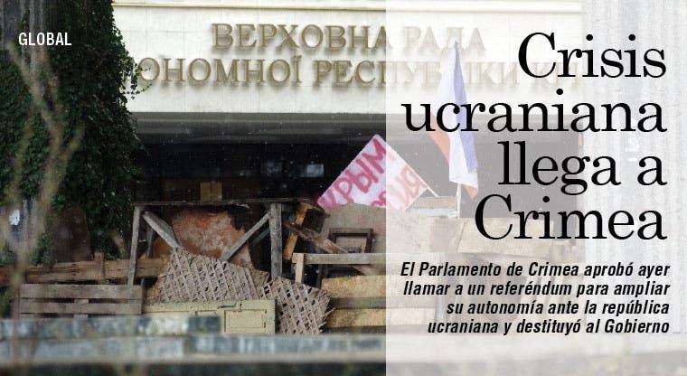 Crisis ucraniana llega a Crimea