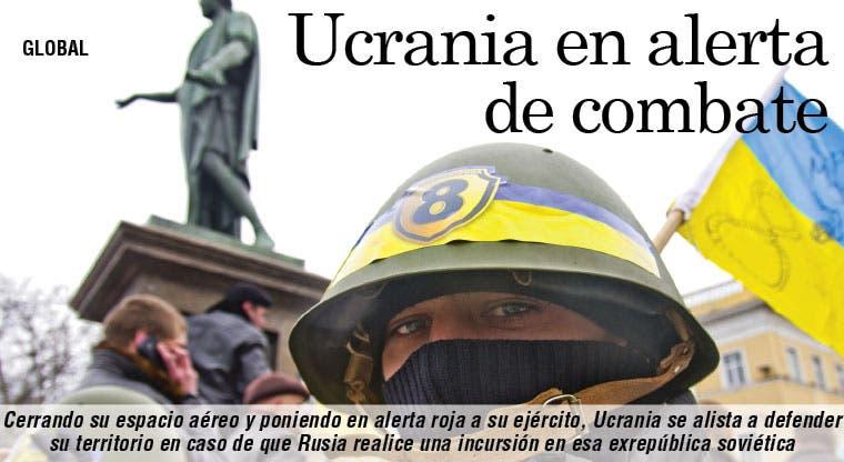 Ucrania en alerta de combate