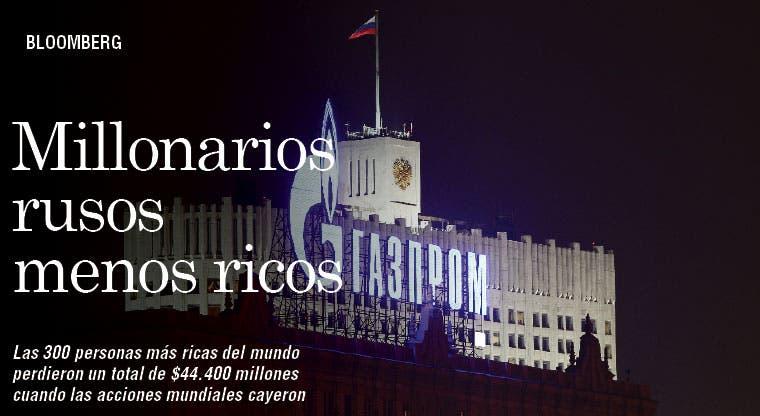 Ricos de Rusia pierden $13 mil millones por Ucrania