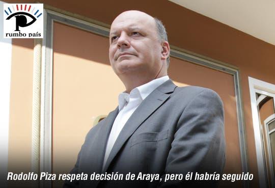 Respeto la decisión, yo hubiera seguido: Rodolfo Piza