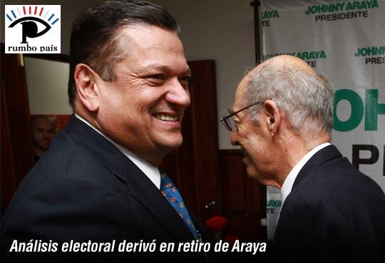 Análisis electoral y encuesta, influyeron en decisión de Araya