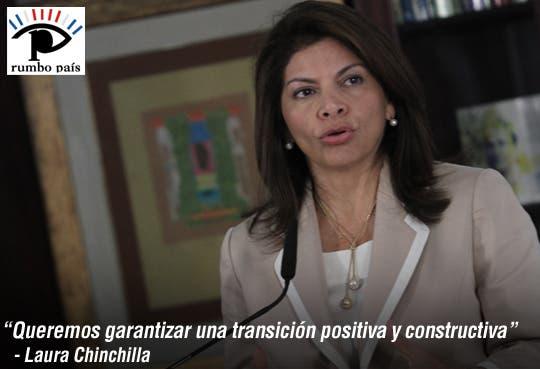 """""""Queremos garantizar una transición positiva"""": Laura Chinchilla"""