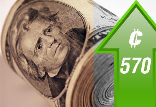 Dólar en ¢570
