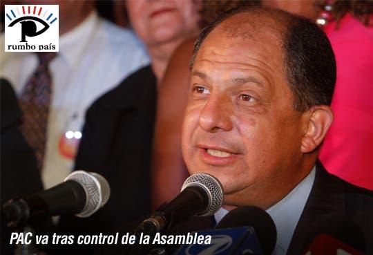 Luis Guillermo quiere control total del Congreso