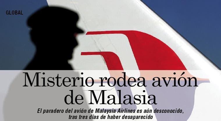 En misterio: avión desaparecido de Malaysia Airlines