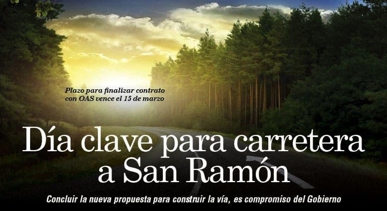 Día clave para carretera a San Ramón