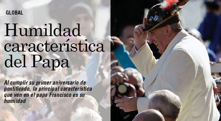 Humildad ven en Papa Francisco
