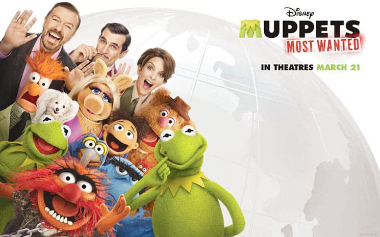 """Muppets Most Wanted"", René y Peggy por Europa"