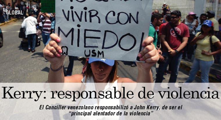 Canciller venezolano llamó a Kerry asesino