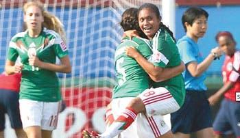 México goleó a Colombia