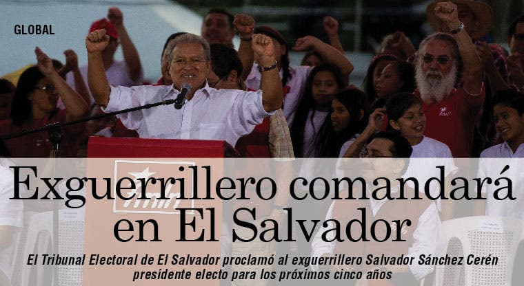 Sánchez declarado presidente de El Salvador