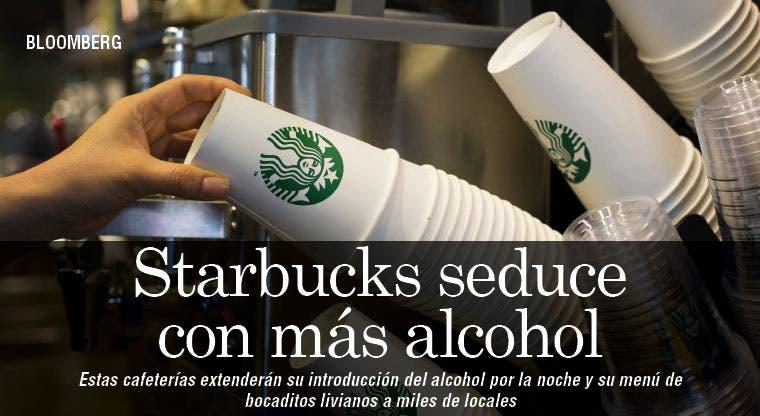 Starbucks amplía venta de alcohol por la noche