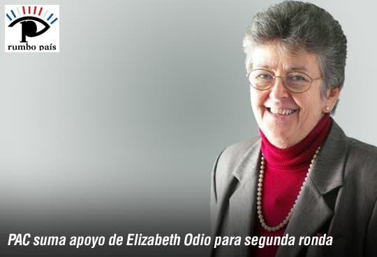 """Adhesión de Elizabeth Odio al PAC es """"orgullo"""""""