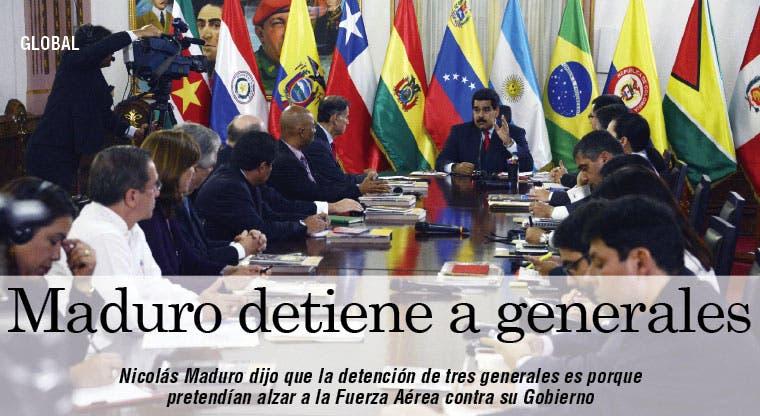Maduro detiene a tres generales