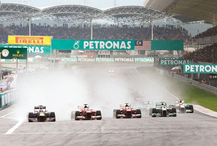 La F1 a la lluvia de Malasia