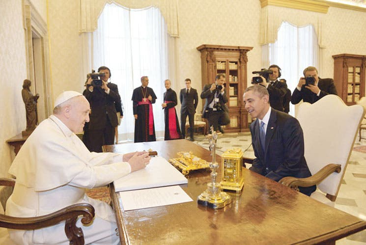 Papa y Obama: 50 minutos en privado