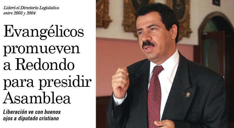 Evangélicos promueven a Mario Redondo para presidir Asamblea