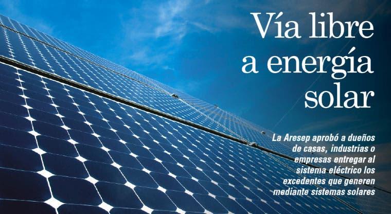 Vía libre a energía solar