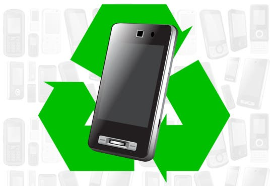 Recicle los celulares que no usa por mal estado