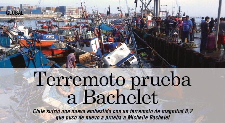 Terremoto en Chile pone a prueba a Bachelet