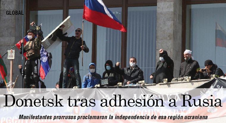 Donetsk otra región ucraniana tras la adhesión a Rusia