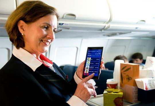 Delta Air Lines presta servicio en vuelo con tabléfonos